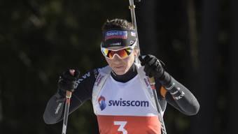Die Schweizer Biathtletin Selina Gasparin startet mit einem 16. Rang in die Saison