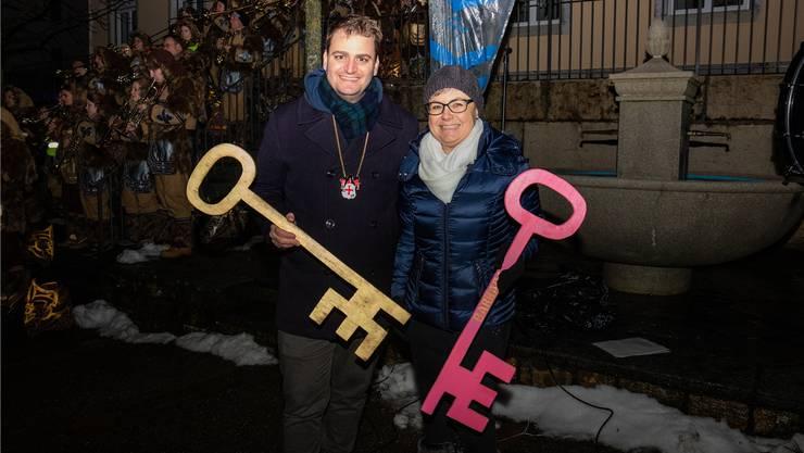 Ramon Zumstein und Barbara Leibundgut freuen sich auf die Fasnacht.