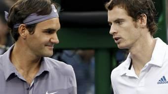 Spielen zum vierten Mal in dieser Saison gegeneinander: Roger Federer und Andy Murray