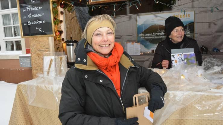 «Wir schenken weihnachtliche Gefühle.» Die Trimbacherin Karin Schüpbach war mit ihrer Beratungsfirma Delosis, die sie seit 17 Jahren in Olten betreibt, präsent.