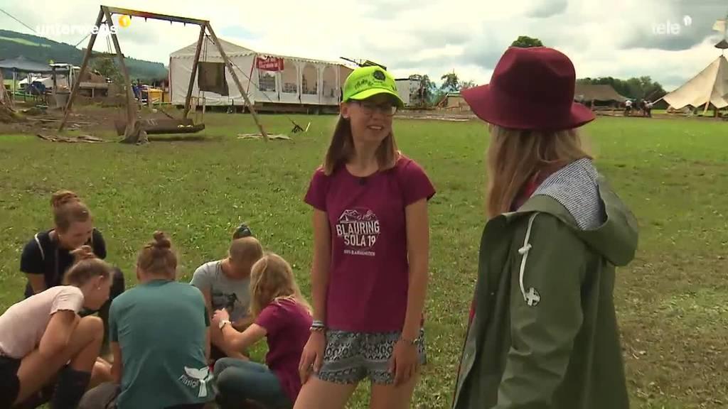 Lagerfeeling pur: Sara Wicki zu Besuch im Kantonslager