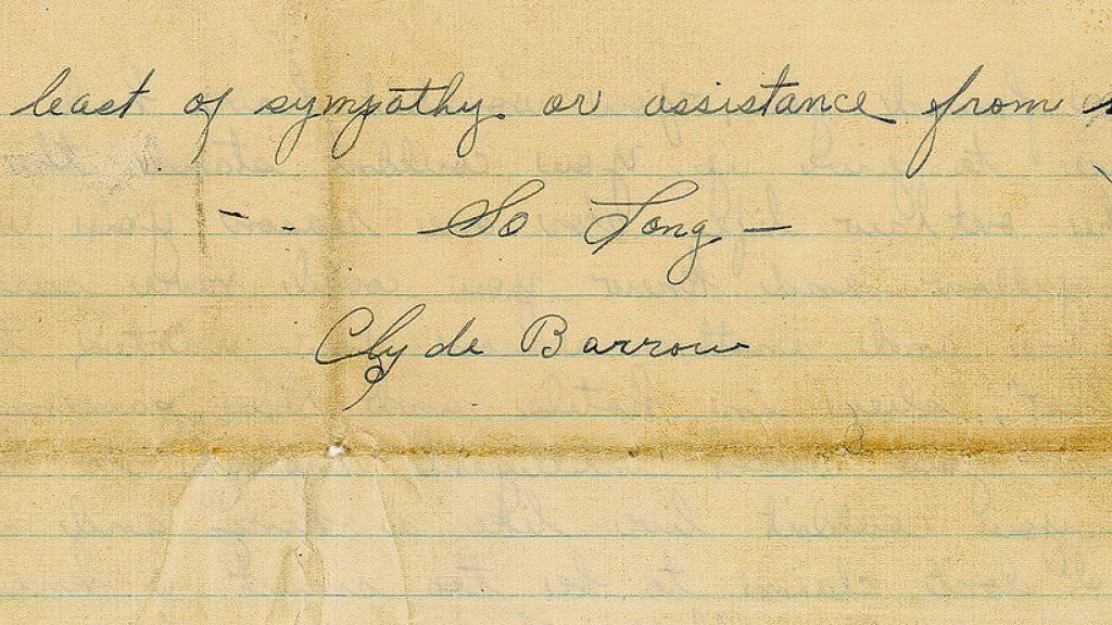 Auf einer Auktion in Boston wird ein Brief von Bonnie und Clyde mit einem Schätzwert von 40'000 Dollar versteigert (Archiv)