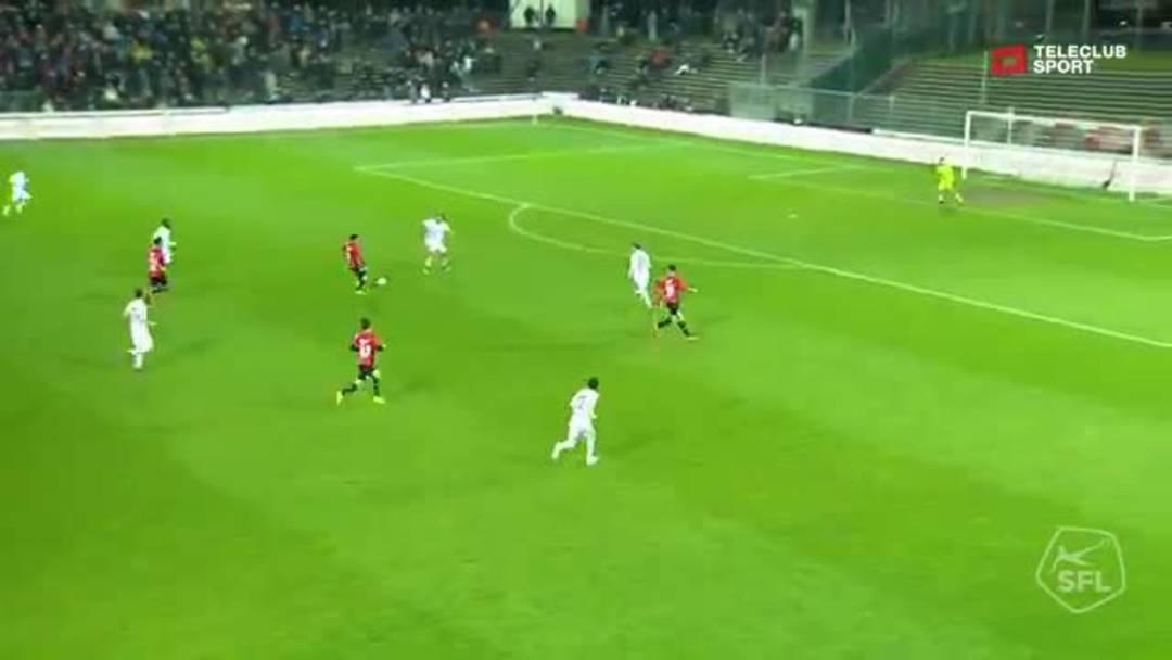 Challenge League 18/19 Runde 28: FC Aarau-FC Vaduz 6.4.19. 3:0 FC Aarau von Goran Karanovic (Assist:  Varol Tasar )