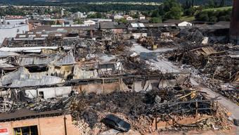In zwei Jahren soll das abgebrannte Industrieareal wieder aufgebaut sein.