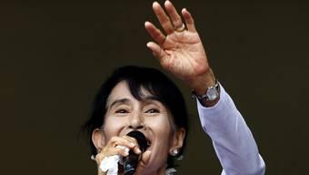 Hoffnungsträgerin der Zukunft Burmas: Aung San Suu Kyi (Archiv)