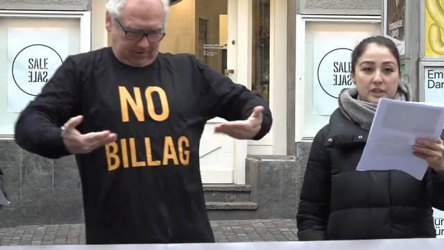 Gehörlose kämpfen mit Strassentheater gegen No-Billag