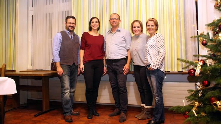 vl. Mischa Obrist, Eliane Stocker, Marcel Jegge, Alexandra Bär, Fabienne Jegge