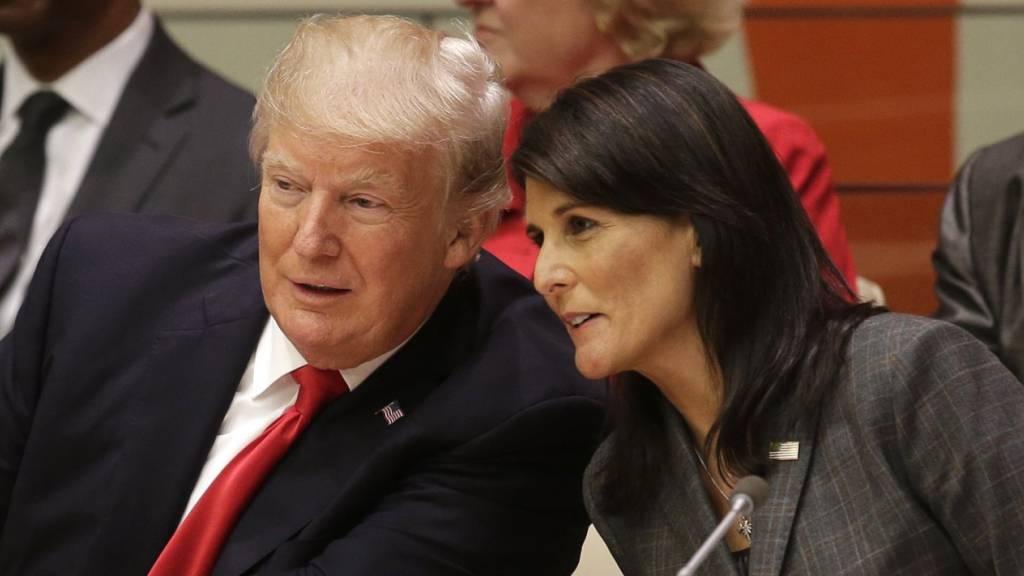 Ex-UN-Botschafterin Haley bricht mit Trump