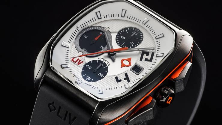4000 Stück der neusten Liv-Uhr «Rebel» wurden auf Kickstarter abgesetzt.