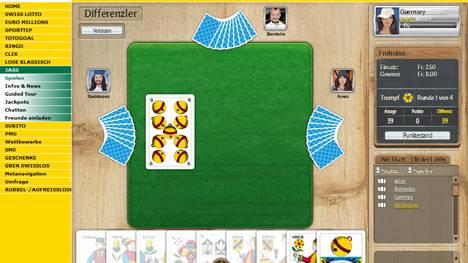 Auf der neuen Online-Spielplattform jass.ch kann um Geld gespielt werden
