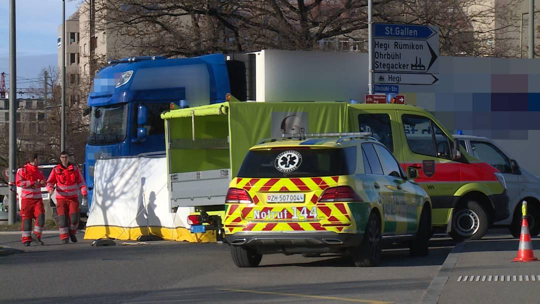 Winterthur: Frau bei Unfall mit Lastwagen tödlich verletzt