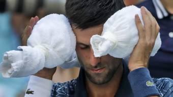 Novak Djokovic hatte nicht nur mit Gegner João Sousa, sondern auch mit der Hitze zu kämpfen