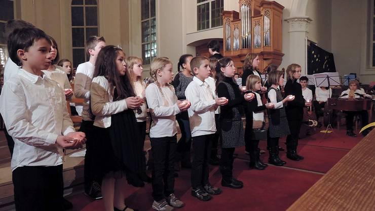 Die Kinder der Musikschule sind hoch konzentriert.ZVG