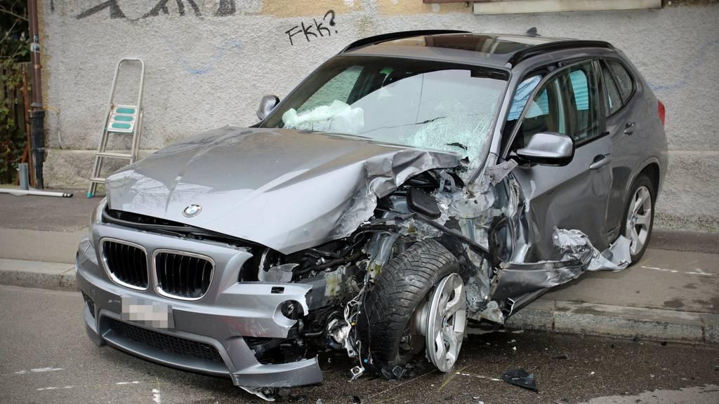 So sah das Auto der 63-Jährigen nach dem Unfall aus.
