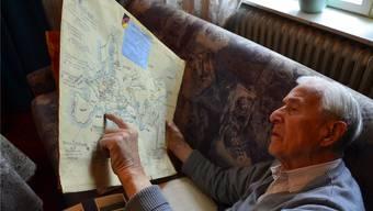 Heinz Rothe in seiner Berliner Wohnung. Er kämpfte in Polen, Frankreich und in Russland. Christoph Reichmuth