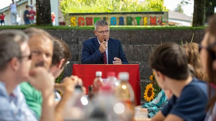 Landammann Roland Fürst sprach in Gunzgen.