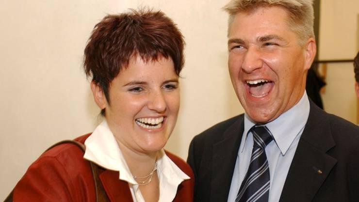 Ihren Förderer Toni Brunner trifft der frühere SVP-Jungstar Jasmin Hutter (im Bild bei der Wahl in den Nationalrat 2003), heute nur noch privat.