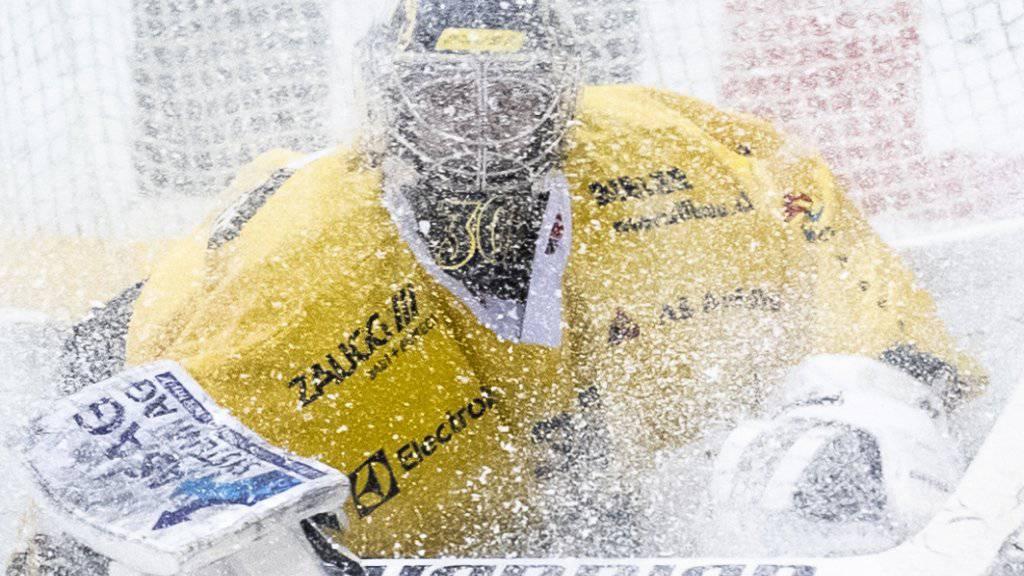 Langenthals Goalie Philip Wüthrich (21-jährig/Shutout mit 31 Paraden) sehen viele schon nächste Saison als Alternative für die Genoni-Nachfolge in Bern