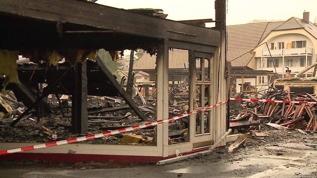 Nach dem Flammeninferno in Balsthal