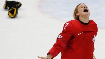 Die Eishockey-Frauen im Spiel um Platz 3 gegen Schweden
