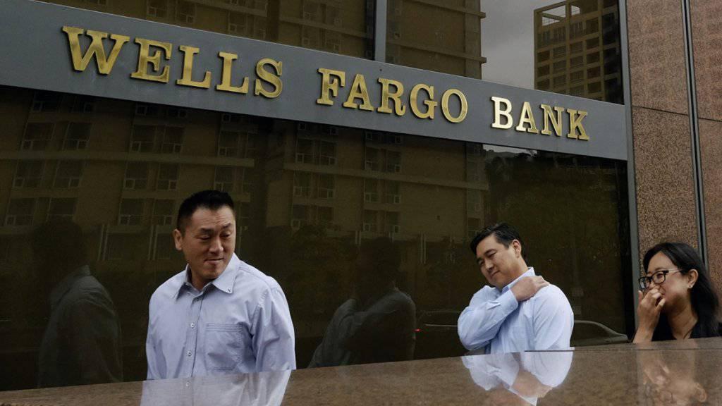 1,2 Milliarden Dollar bezahlt die US-Grossbank Wells Fargo um mehrere Verfahren aus der Hypothekenkrise in den USA hinter sich zu lassen. (Symbolbild)