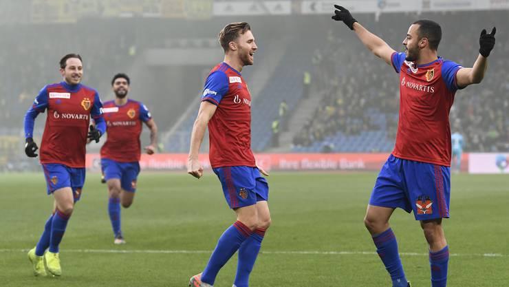 Gegen Bern durfte der FCB gleich dreimal jubeln.