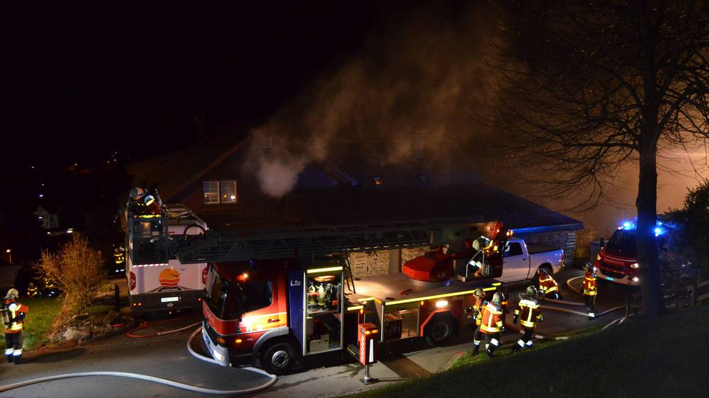 Die Feuerwehr Teufen-Bühler-Gais war beim Brand in Gais im Einsatz.