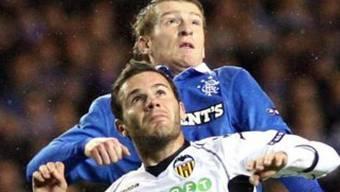 Glasgow Rangers im Duell mit Valencia