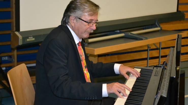 Hörenswerter Schlusspunkt: Christian Schaub am Piano.