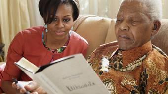 Michelle Obama bei Nelson Mandela