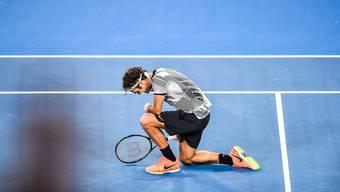 Roger Federer 2017 nach seinem Australian-Open-Sieg.