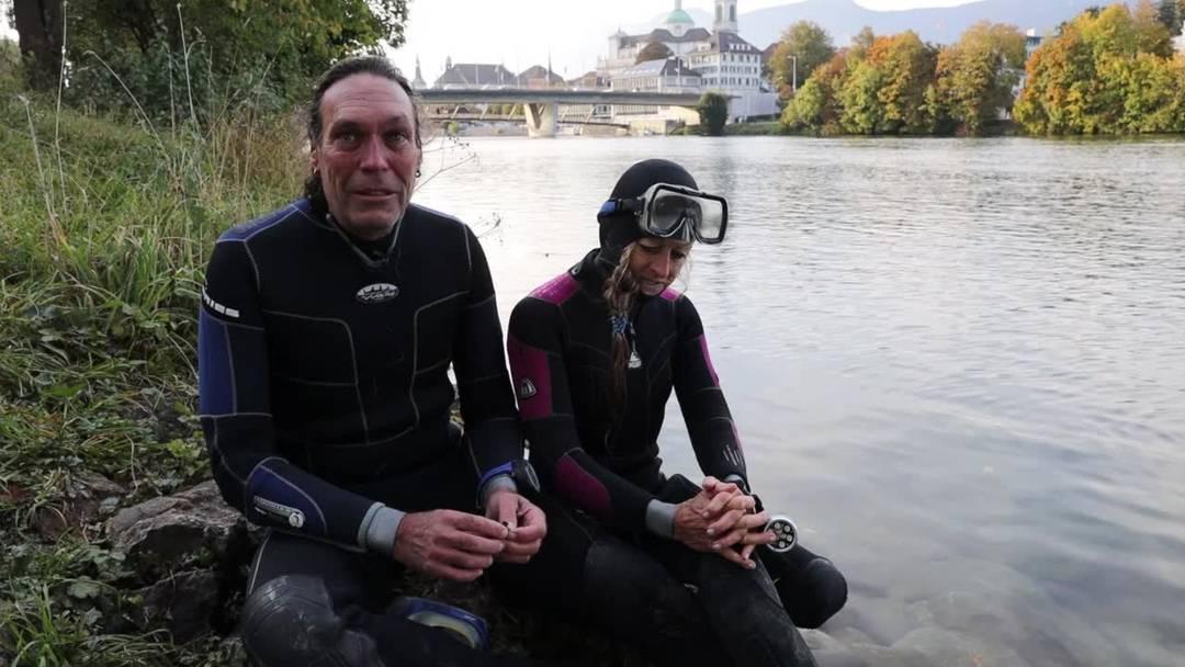Was fasziniert Ernst Häusermann und Gerda Hüsler am Tauchen? Und was erleben sie in der Aare?