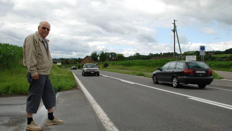 80 statt 70 km/h: Hans Kaufmann ist mit seinem Anliegen gescheitert, die Limite beizubehalten. (fh)