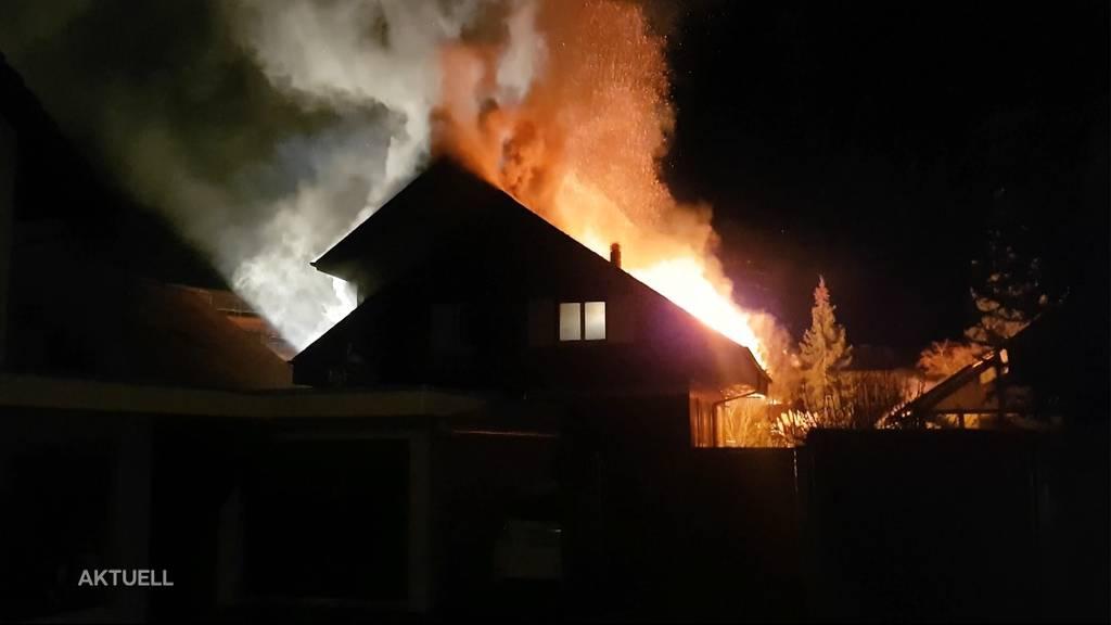 Brände im Aargau: Viermal brannte es letzte Nacht