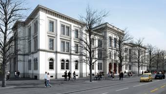 Visualisierung: So soll das Pestalozzi-Schulhaus nach der Erneuerung aussehen.