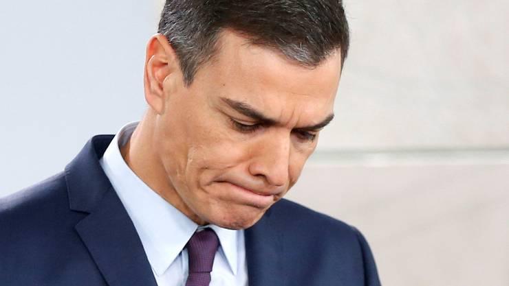 Gescheiterter Regierungschef: Der Sozialist Pedro Sánchez.