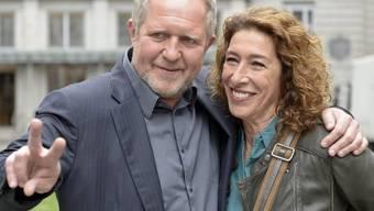 """Im """"Tatort"""" hat Adele Neuhauser (hier mit Schauspielkollege Harald Krassnitzer) die Alkoholsucht überwunden, im wahren Leben ihre Depressionen (Archiv)"""