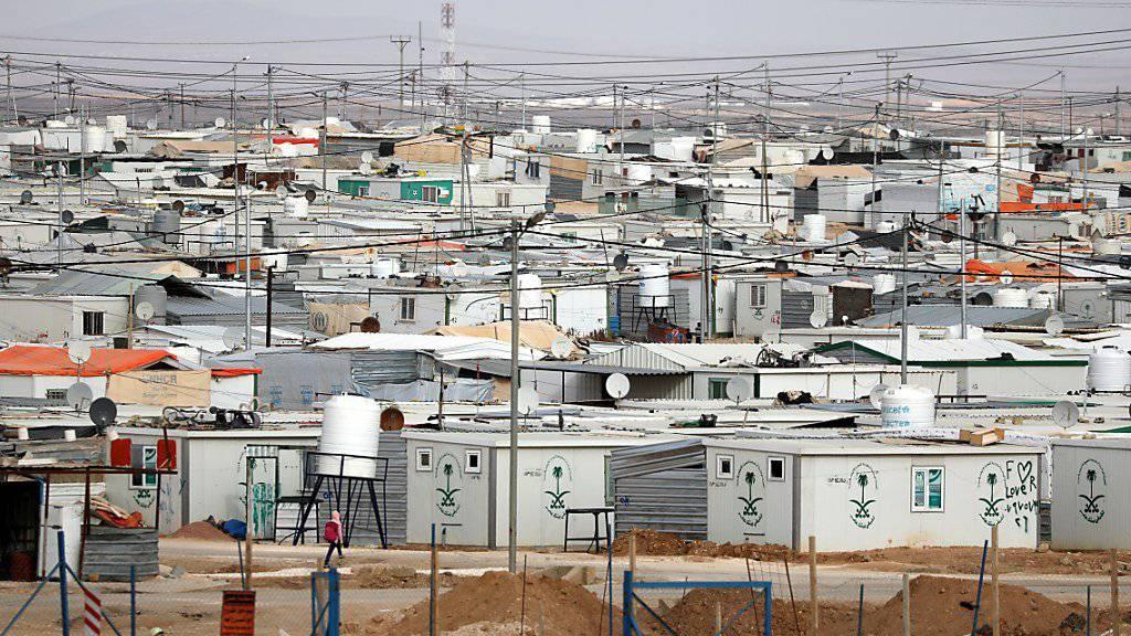 Das Tessin hat 36 Flüchtlinge aus Syrien aufgenommen. Im Bild ein Flüchtlingslager in Jordanien. (Archivbild)