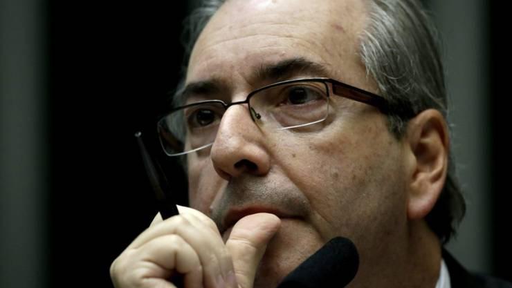 Der brasilianische Parlamentspräsident Eduardo Cunha muss wegen der Petrobras-Affäre vor Gericht. (Archiv)