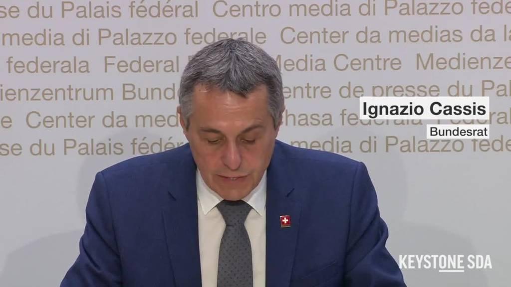 Bundesrat Cassis: «Eine der grössten Evakuierungsaktionen der Schweiz ist fast beendet»