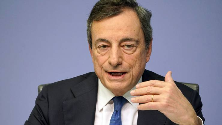 Der am 31. Oktober 2019 zurückgetretene Präsident der Europäischen Zentralbank: Mario Draghi.