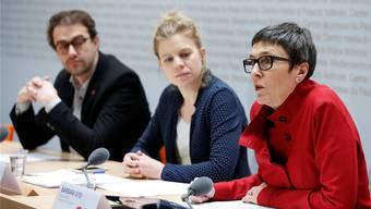 Kantone im Visier: Die SP-Politiker David Roth, Nadine Masshardt und Barbara Gysi.