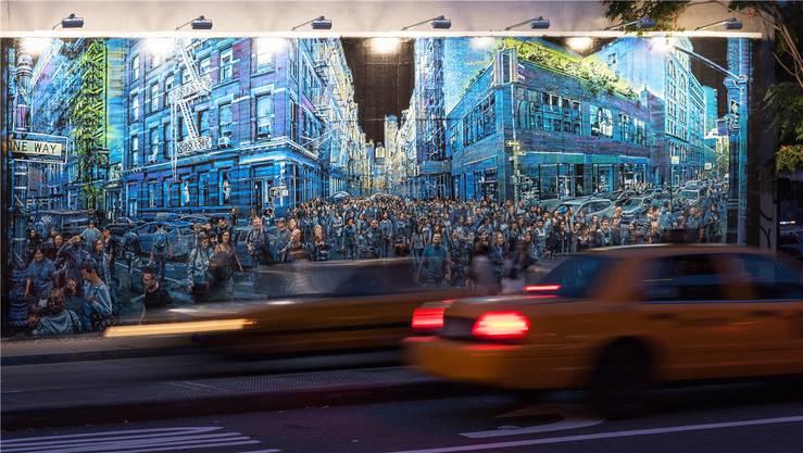 Im Süden von New Yorks Stadtteil Manhattan: Urban Art findet man hier reihenweise. Darunter die berühmte Houston Bowery Wall.