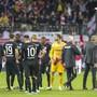 Für einmal im Europacup daheim geschlagen: Die Spieler von Eintracht Frankfurt