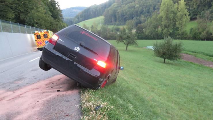 Ein 20-jähriger Personenwagenlenker musste einem ihm entgegenkommendem Auto ausweichen.