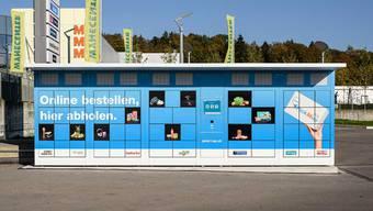 In Lenzburg und in Buchs werden ab MIttwoch die neuen «PickMup-Boxen» getestet.