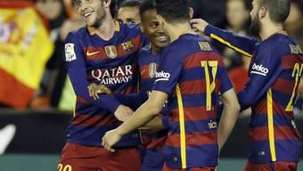 Gratulationen an den Torschützen des FC Barcelona: Wilfrid Kaptoum