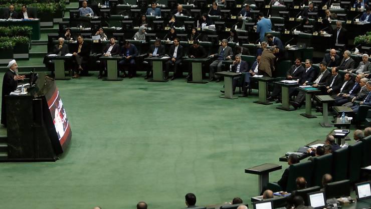 Das iranische Parlament verlangt eine Untersuchung über die Ursachen der jüngsten Proteste und Unruhen im Land (Archiv)