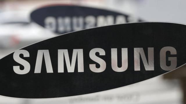 Das Samsung-Logo in einem Showroom im Hauptsitz in Seoul