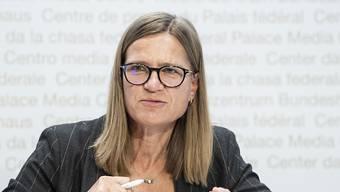 Virginie Masserey vom BAG ist beim heutigen Point de Presse auf dem Podium. (Archivbild)
